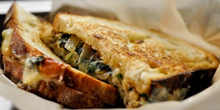 Fat Shallot grilled cheese